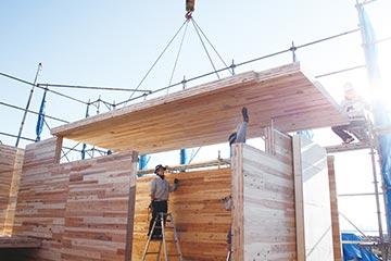 CLTなどを使った特殊木造建築の施工