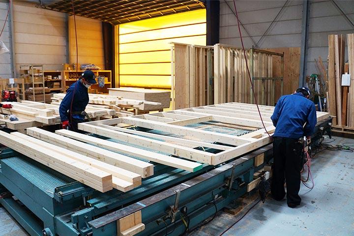 枠組壁工法(ツーバイフォー)住宅部材製造
