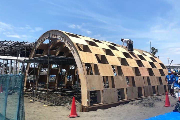 「釘の無い海の家プロジェクト」への参加