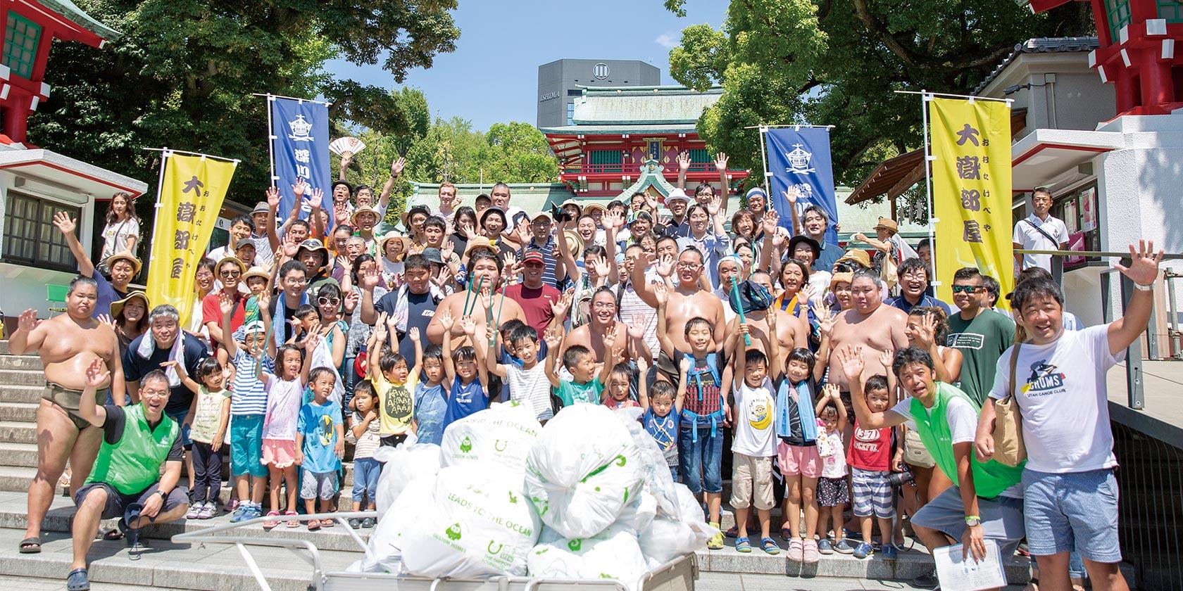 地元 深川の清掃活動